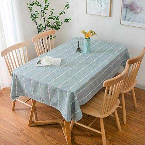 SONGHJ Couchtisch Tischdecke Baumwolle und Leinen kleines frisches Quadrat einfachen Haushalt A 135x250cm