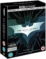 The Dark Knight Trilogy: Batman Begins + The Dark Knight + The Dark Knight Rises (4K UHD + Blu-ray + Bonus Disc + Digital Download) (9-Disc Box Set) (Region Free + Slipcase Packaging + Fully Packaged Import)