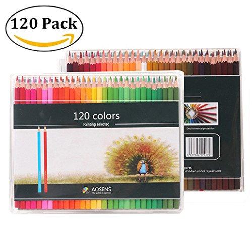 120 Farben Buntstifte Set- 120 einzigartige Helle und deutliche Farben und bereits angespitzte bunte...