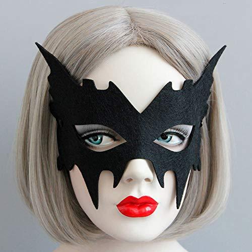 dermaus sexy Maskerade Maske venezianischen Karneval Filz Tuch halbe Gesichtsmaske geheimnisvolle Make-up Eyeshade Maske ( Color : Black , Size : One Size ) ()