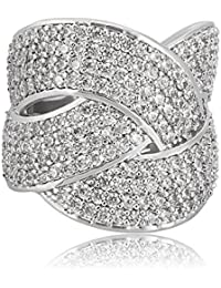 shaze Criss-Cross Party Ring for Women/Girls Rings for Women Stylish | Ring for Girlfriend