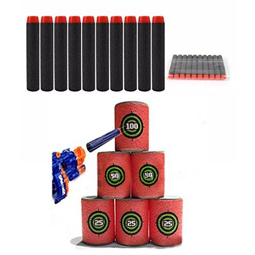 LaDicha 100Pcs Refill Black Bullets Dart for Nerf Nstrike Elite Rampage Retaliator Series Blasters -