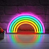 Rainbow LED Neon Light Sign Wall Light Stand Bar Lamp Home Nursery Room