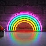 arcobaleno LED luce al neon lampada da parete supporto bar lampada casa camera dei bambini
