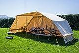 Leben unter Canvas 100% Baumwolle Leinwand Pavillon Überdachung Event Shelter freistehend für Camp Kochen oder Garten Shelter von