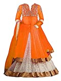 #5: SKY WORLD Girl's Net Embroidered Lehenga Choli For Parties and Wedding Traditional Wear (8-14 Yrs) (World_542)