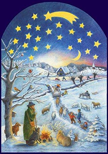 Winterszene: Adventskalender