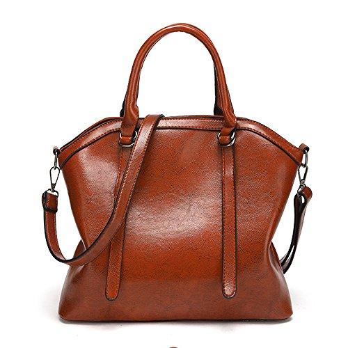 Mynos W-H-23-Brown - Bolsa de Piel mujer
