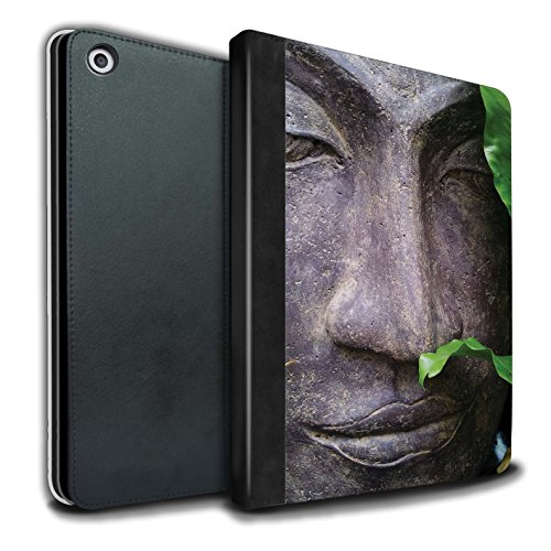 �lle/Case/Brieftasche für Apple iPad 9.7 (2017) Tablet/Zen Statue Muster/Innerer Frieden Kollektion ()