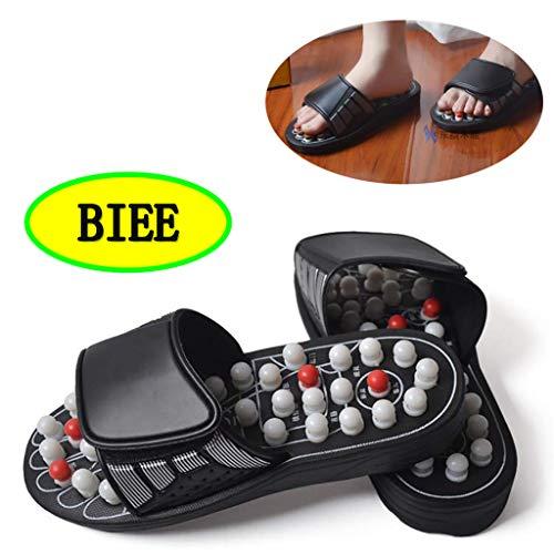 BIEE Akupunkt-Massage-Hausschuhe, Fußreflexzonenmassage Sandalen, Männer und Frauen