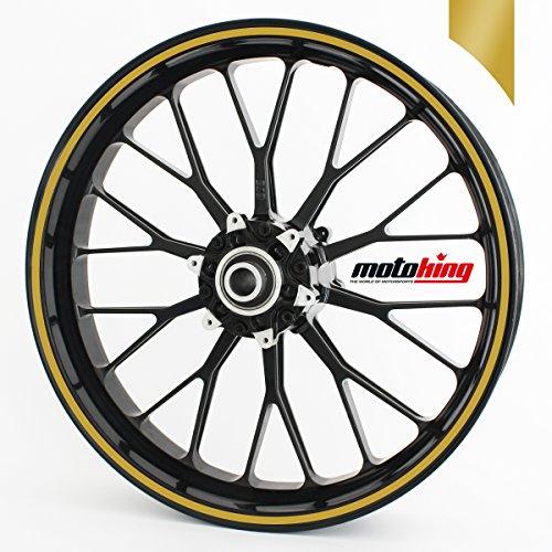Adesivi per bordi dei cerchi Motoking 360°/ di larghezza di 6 mm / oro opaco (6 Mm Opaco)