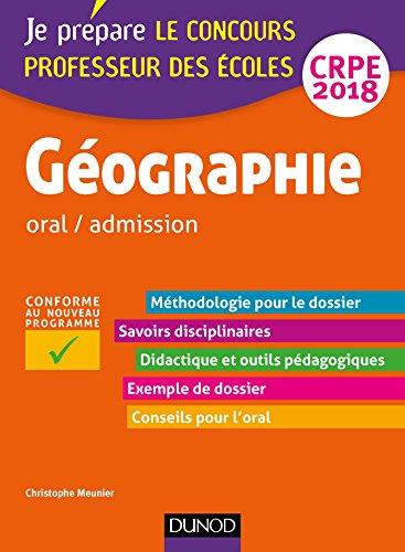 Gographie - Professeur des coles - oral / admission - CRPE 2018 (Concours enseignement)
