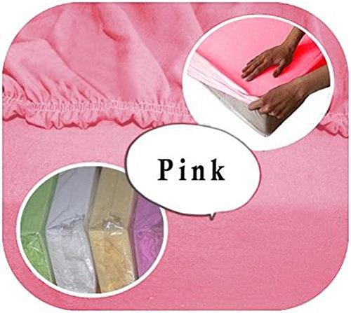 Baby Comfort Spannbettlaken für Babybett, 160 x 70 cm, Baumwolljersey, Pink