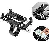 KOBWA Supporto per Cellulare Bici GUB, Lega Universale in Lega di Alluminio Supporto per Telefono Cellulare Universale Regolabile per Manubrio Moto Bicicletta per iPhone XR, iPhone 8/8 Etc