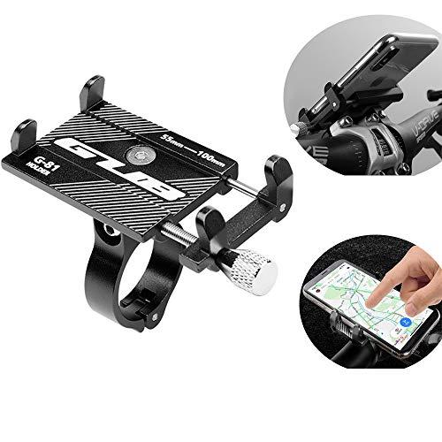 KOBWA Gub Fahrrad handyhalter, aluminiumlegierung universal einstellbar Fahrrad handyhalter Halterung für Fahrrad Motorrad Lenker für iPhone xr, iPhone 8/8 Plus, Samsung Galaxy s7 / s7 Edge etc
