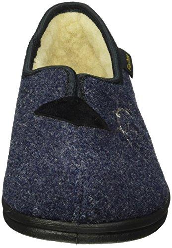 Fischer - Damen-hausschuh, Guanti imbottiti caldi Donna Blu (Blau (Blau 555))