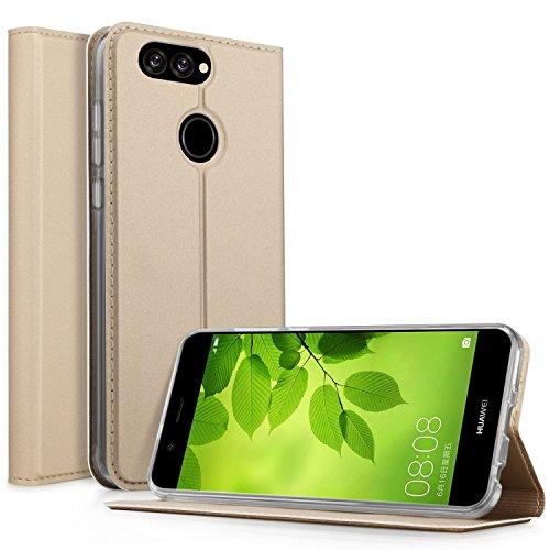 Coque iPhone 8, KuGi Apple iPhone 8 Flip Coque Premium PU Housse [Protection Complète] Couverture Multicolor avec support design pour Apple iPhone 8 (Bleu) Or