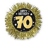 COCCARDA GOLD 70 Anni - Diam. 12 cm - Accessori Festa 70° Compleanno
