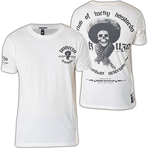 Yakuza Premium T-Shirt YPS-2005 Weiß Weiß