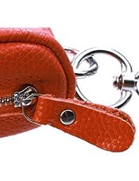 Gazechimp Etuis Porte-clés Mini Pochette Zippé Unisexe en Cuir Artificiel pour Clé/ USB/ Pièces/ Monnaie