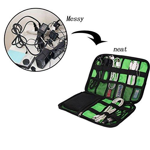 HuntGold Colección de bolsillo organizador del recorrido del almacenaje del bolso bolsa de la caja de cable digital Gadget