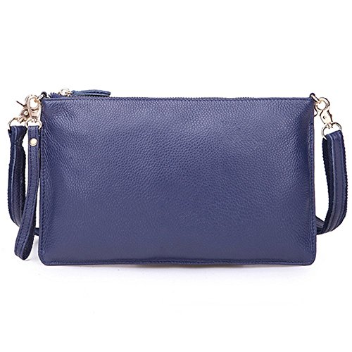 Eysee, Poschette giorno donna Nero Zaffiro blu 29cm*17.5cm*1cm Zaffiro blu