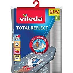 Vileda - Housse de table à repasser Total Reflect - Housse de repassage pour toutes les tailles de planches - Avec revêtement métallisé pour repassage ultra rapide