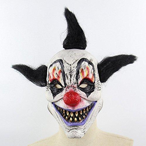 Xigeapg Halloween Horror Zombie Horror Mann Horror Zirkus Horror Zauberer Terror Horror Clown Horror Zombie Latex Geister Maske Geisterhaus Dress Up Hood B