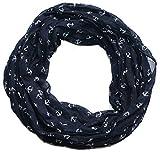 Anker Marine Damen Seide Loop Schal (marine blau)