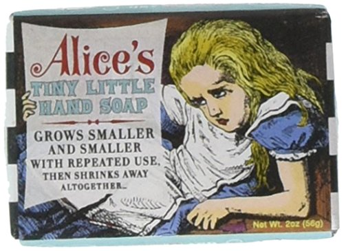 Unemployed Philosophers Guild Wonderland Alice's Tiny Hand Soap - 1 Mini Bar of Soap - Made in The USA