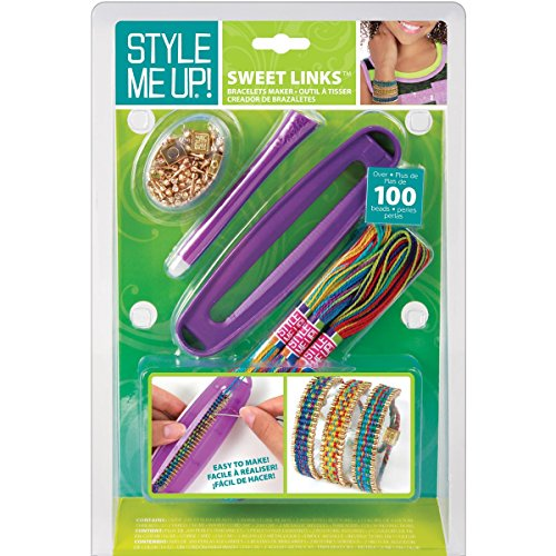 inks Woven Bracelet Maker Kit-Purple (Bracelet Maker Kit)