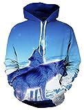Bfustyle Männer 3d Tier Wolf Printed Grahphic Hoodie mit Taschen