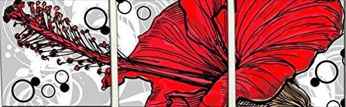 stereo-rosso-fiore-di-fioritura-dipinta-a-mano-della-pittura-a-olio-senza-pronta-incorniciato-ad-app