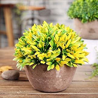 Worsendy Flores Artificiales, decoración familiar y de oficina, plantas de plástico, plantas con maceta de arcilla, 1 pieza