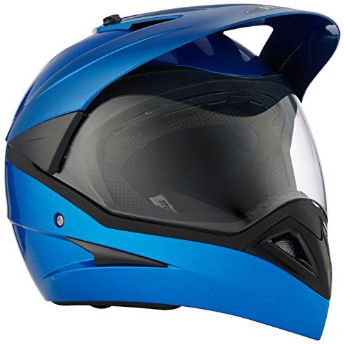 Studds Motocross Helmet with Visor (Flame Blue, M)