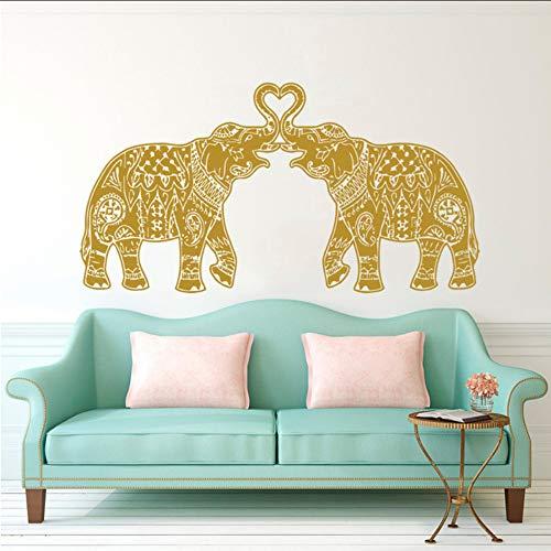 Lyclff Dos Elefantes Buda Tatuajes De Pared Mandala Del Elefante Om Símbolo...