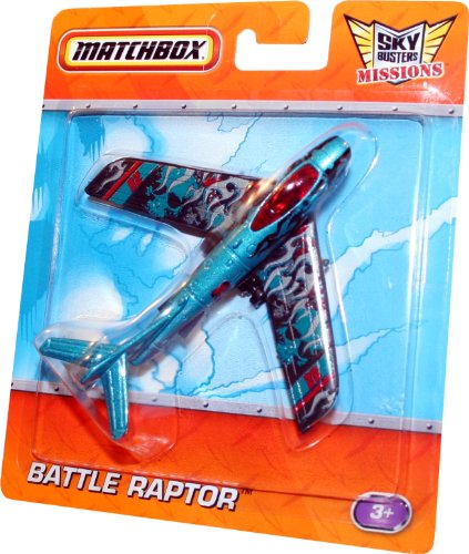 BATTLE RAPTOR * BLUE 28 * Die-Cast Airplane MATCHBOX Sky Busters Missions Series (Raptor Matchbox)