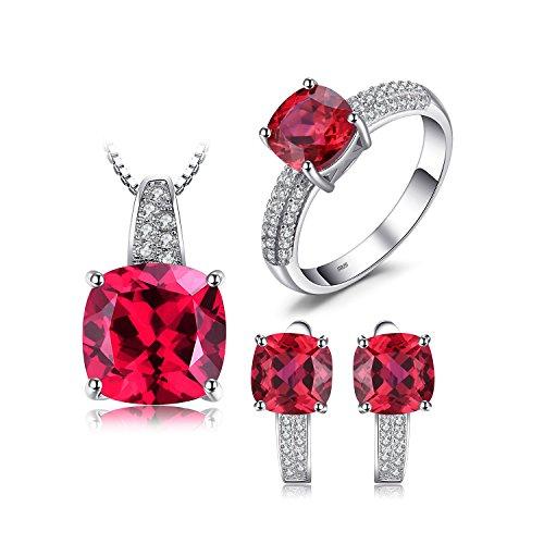 JewelryPalace Donna Gioiello Rosso Rubino Elegante...