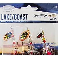 Fladen–6pezzi e Lago Costa Spinners 6A 12g All Round esche da pesca, trota, Bass, Pesce Persico e salmone [16–7062]