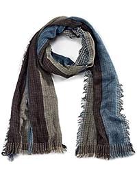 ROYALZ foulard écharpe femme automne hiver printemps léger doux motif rayée  carreaux effrangé multicolore 6e0c56a1cba