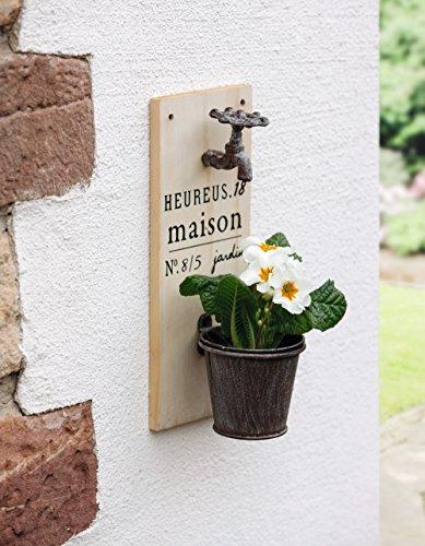 "Wand-Pflanzer ""Wasserhahn"" (Wand-korb Pflanzer)"