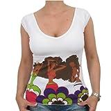 Kani Ladies - Girl Flower Girlie Shirt, weiß, Größe:S