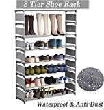 Best Shoe Rack Organizer For Closets - Modrine 8 Tiers Shoe Rack, Free Standing Shoe Review