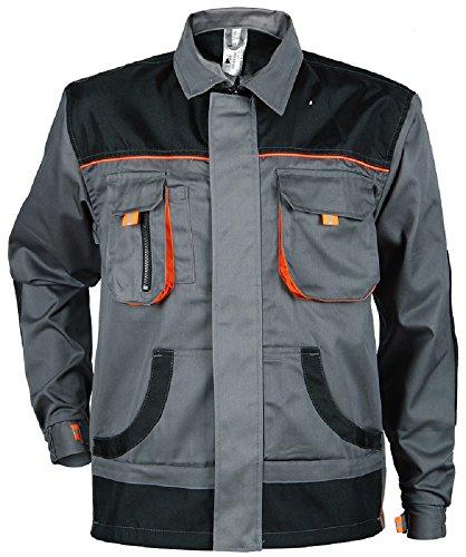 Stenso Des-Emerton - giacca da lavoro multifunzione - vestibilità slim - grigio/nero / arancione con gomiti rinforzati 50
