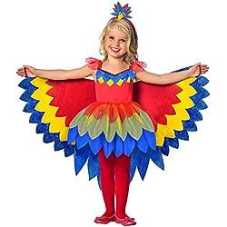 amscan 9903518 Costume de perroquet fée pour enfant, multicolore, 116 cm
