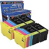 Alaska Komp. Epson 27Xl 27 XL T27XL Multipack pour Workforce WF 3620 3640 7610 7620 7110 WF3620 WF3640 Cartouche d'encre Lot de 10