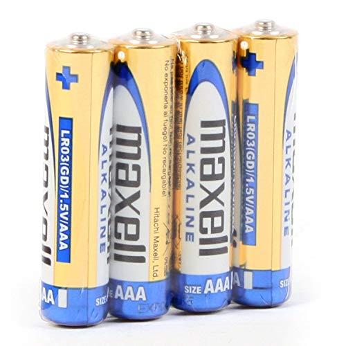 Maxell 790233.04.CN Alkaline Batterie, Micro AAA, 4 Pack Shrink