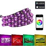 LUXJET LED Rétro-éclairage de la télévision,Télécommande par smartphone ou tablette, RGB USB LED Strip éclairage pour HDTV Gaming PC Téléviseur à écran plat LCD PC de bureau(2m,USB)