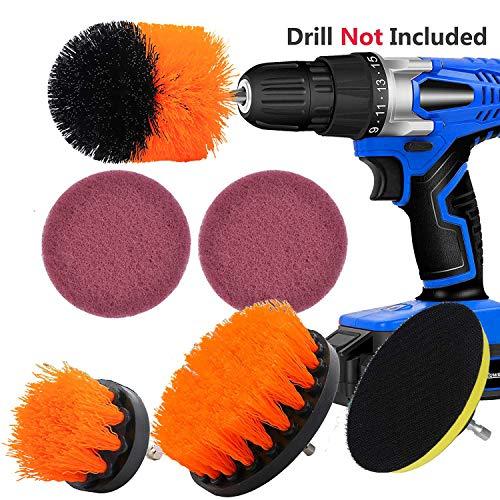 Kagni spazzola per trapano - confezione da 4 drill brush power scrubber, setola media rigidità, perfetto per la pulizia toilette cucina bagno doccia piastrelle lavello auto
