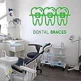 Ajcwhml Soins Dentaires Sticker Mural Clinique Dentaire Vinyle Sticker Amovible...